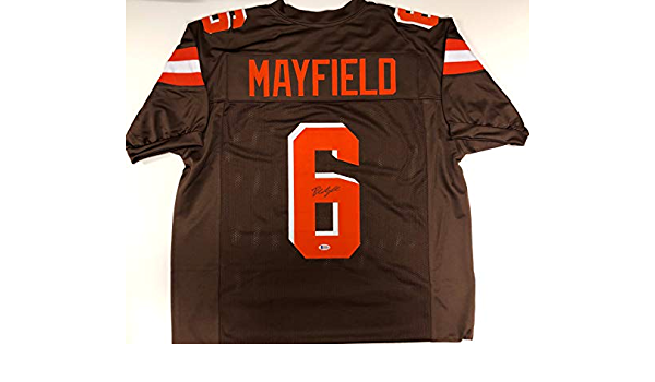 autographed baker mayfield jersey