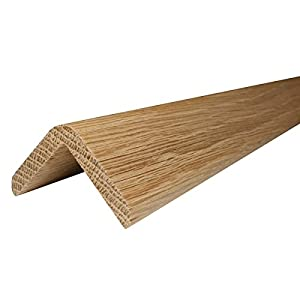 Solid Oak Stair Nosing   1m (Lacquered, 35mm X 35mm)