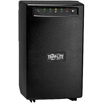 Tripp Lite SMART1500 1500VA 980W UPS Smart Tower AVR 120V USB DB9 SNMP for Servers, 6 Outlets