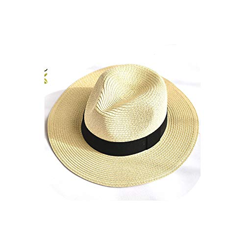Women Summer Sun hat Unisex Panama hat Arrival Straw Beach Cap,07,China,One Size Adjustable]()