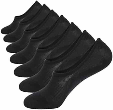 No Show Socks Mens 7 Pair Cotton Thin Non Slip Low Cut Men Invisible Sock 6-9/10-12