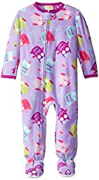 Komar Kids Little Girls\' Toddler Owl Fleece Blanket Sleeper, Purple, 2T