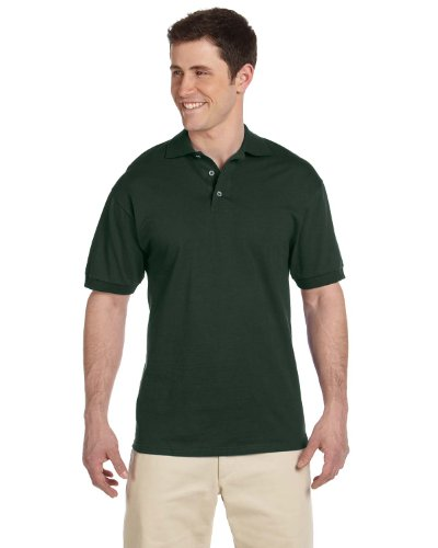 Heavyweight Jersey Sweater - Jerzees 6.1 oz. Heavyweight Cotton Jersey Polo 2XL FOREST GREEN
