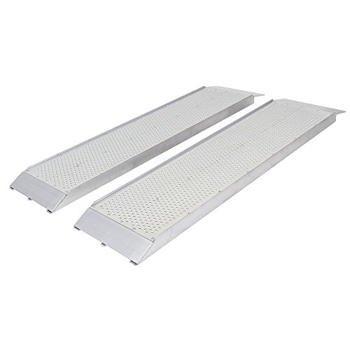 Shed Ramps (Guardian Aluminum Dual Runner Shed Ramps with Punch Plate Surface - 48