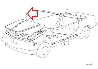 BMW Genuine Hood Insulation Pad Set (3 Piece Set) for 318i 318is 325e 325i 325ix