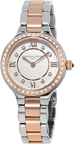 Frederique Constant Women's FC200WHD1ERD32B Delight Analog Display Swiss Quartz Two Tone Watch