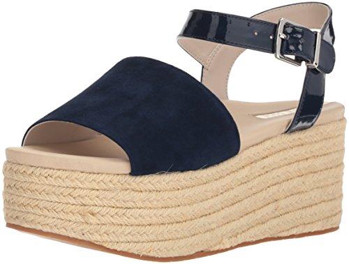 Kenneth Cole Suede Sandals (Kenneth Cole New York Women's Indra Platform Espadrille Ankle Strap Heeled Sandal, Marine, 6 M US)