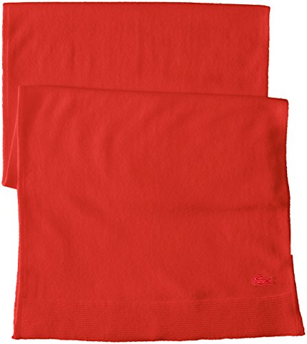 Lacoste Women's solid Fine Jersey Cashmere Scarf, Regal Red, One Size by Lacoste (Image #2)