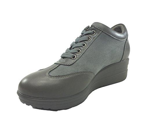 mujer de senza Zapatos Material para de gris Sintético cordones marca fH8w4H
