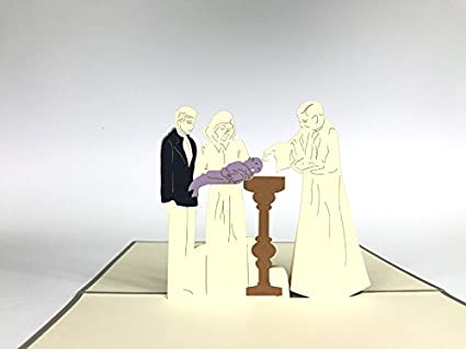 Tarjeta 3D para bautizo, bebé recién nacido bebé niño bebé ...