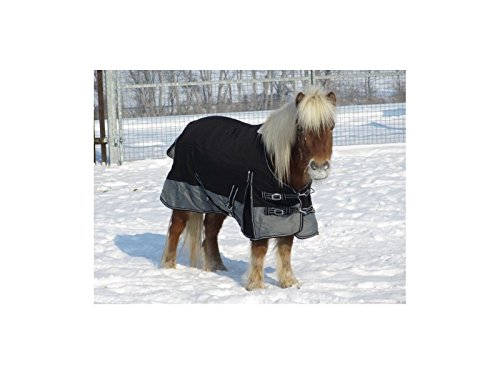 Weidedecke mit Polarfleeceinnenfutter Equestrian schwarz/grau 95cm