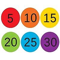 "4"" Carpet Spots Markers, Hotpai 30 Pack Sitting Classroom Floor Mark Spots, 6 Colors Rug Circles Marker Hook Dots with Numbers 1-30 for Preschool, Kindergarten, Elementary Teachers Kids Educate"