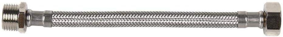 DOJA Industrial H 1//2 cocina. 20 cm de Longitud Flexo para lavabo grifos Latiguillo de Grifo Flexible Hembra//Hembra H 1//2 Manguera para Grifo o Ducha de Acero Inoxidable