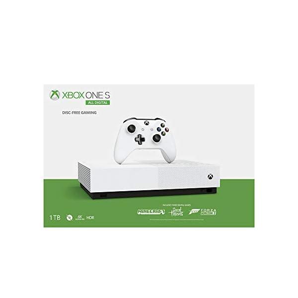 Xbox One S 1TB All-Digital Edition Console (Free Digital Games: Minecraft, Sea of Thieves, Forza Horizon 3)