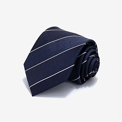 (Tie - High-quality Polyester Men Diagonal Stripes Fashion Business Collocation 3.5 * 8 * 145cm)