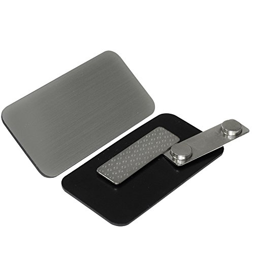 """Name Tag / Badge Blanks - 25 Pack - Brushed Silver 1-1/2"""" X 3"""", Round Corners, Magnetic Backing"""