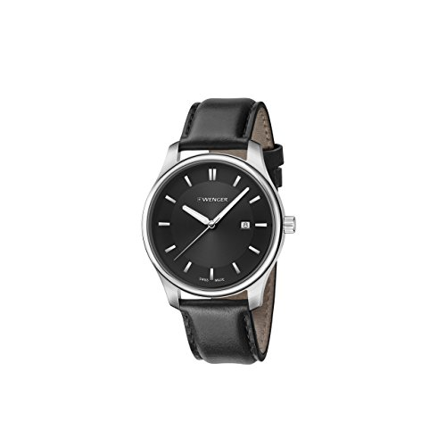 Wenger-Mens-City-Classic-Swiss-Quartz-Stainless-Steel-and-Leather-Casual-Watch-ColorBlack-Model-011421103