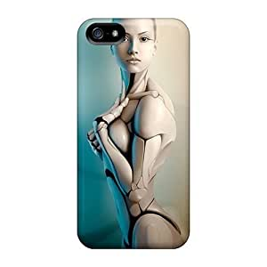 Aaw1316FuXz Anti-scratch Cases Covers Evanhappy42 Protective 3d Graphics Girl Robot Cases For Iphone 5/5s