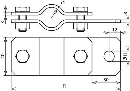 Dehn 410112/Schelle Rohr 1.1//2/St//tZn