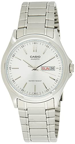 Casio Enticer Analog Silver Dial Men #39;s Watch   MTP 1239D 7ADF  A205