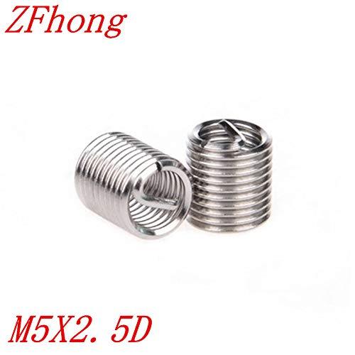 Ochoos 50pcs M5 M52.5D Stainless Steel Wire Thread Insert