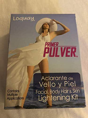 Lóquay PULVER FACIAL BODY HAIR & SKIN LIGHTENING KIT aclarante de vello y piel
