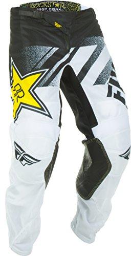 Rock Star Pants - Fly Racing Men's Kinetic Mesh Rock Star Pants White/Black Size 34