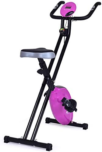 GOPLUS Magnetic Resistance Upright Bike Flywheel Bike Cardio Fitness Bicycle Equipment