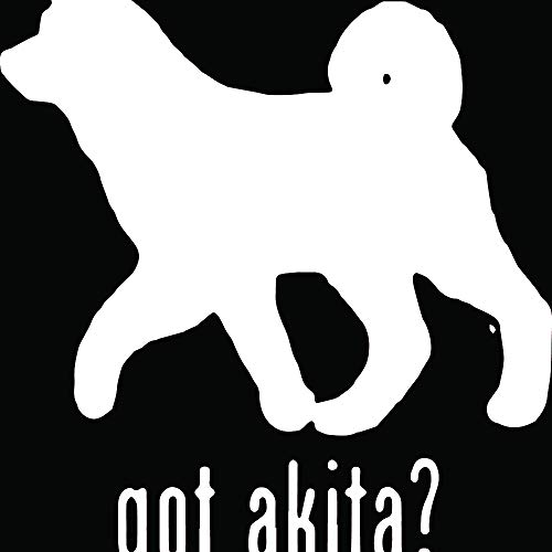 - Animal GOT Akita Dog 1 (White) (Set of 2) Premium Waterproof Vinyl Decal Stickers for Laptop Phone Accessory Helmet Car Window Bumper Mug Tuber Cup Door Wall Decoration