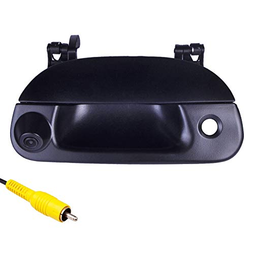 omotor Tailgate Backup Camera for Ford 1997-2007 F150 F250 F350 F450 F550 Black Tailgate Backup Reverse Handle with Camera