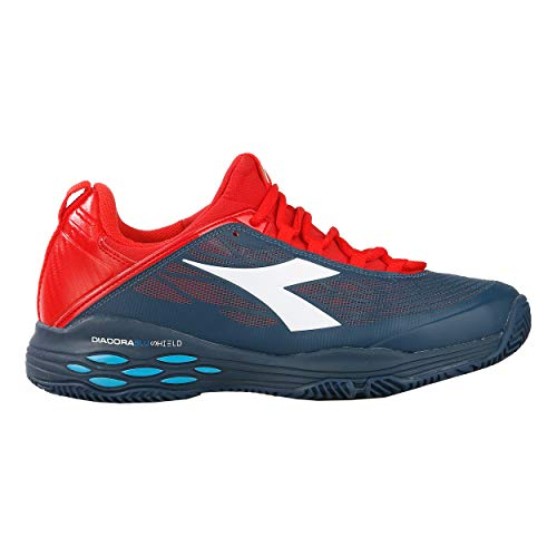 Blushield Battue Fly Hommes Foncé Bleu Chaussures 40 De Speed Rouge Clay Tennis Terre Chaussure Diadora qv4wpEtq