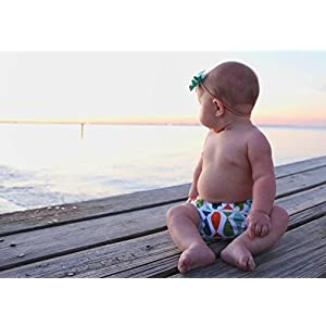Nageuret Reusable Swim Diaper, Adjustable & Stylish Fits Diaper Sizes N-5 (8-36lbs) Ultra Premium Quality For Eco-Friendly Baby Shower Gifts & Swimming Lessons (Fish- Red, Green, Blue)
