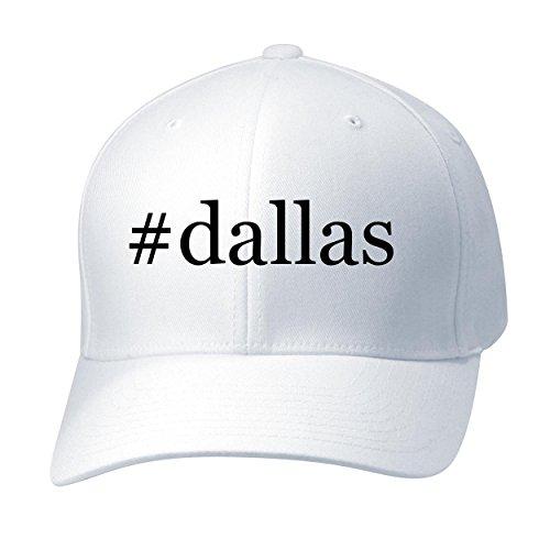 BH Cool Designs #Dallas - Baseball Hat Cap Adult, White, Small/Medium (Dallas Design)