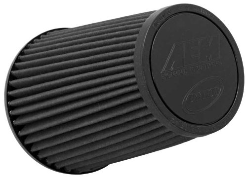 AEM 21-2099BF Universal DryFlow Clamp-On Air Filter: Round Tapered; 6 in (152 mm) Flange ID; 9.125 in (232 mm) Height; 7.5 in (191 mm) Base; 5.063 in (129 mm) Top ()