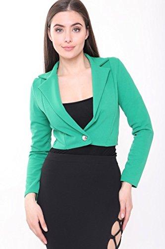 traje de Larga para Verde mujer Blazer amp;Ayat Momo Chaqueta Manga Fashions xF7wIAnqC