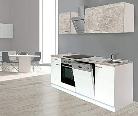 RESPEKTA incasso cucina angolo cucina BLOCCO CUCINA 220 cm bianco ...