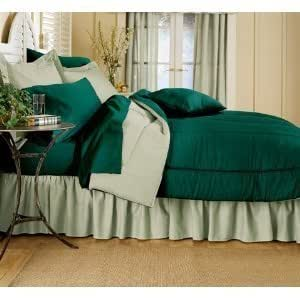 Amazon Com Reversible Solid Color Comforter Hunter
