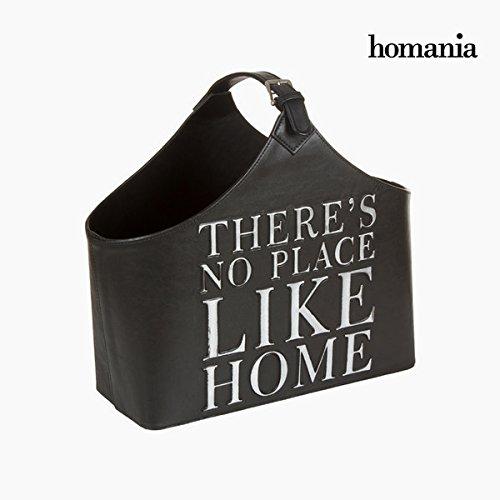Revistero con correa negro by Homania 9478