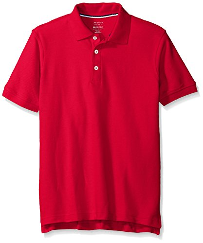 French Toast Husky Boys' Short Sleeve Pique Polo, Red, 18/20H by French Toast