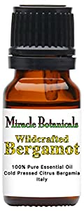 Miracle Botanicals Bergamot Essential Oil - 100% Pure Citrus Bergamia - Wildcrafted - Italy