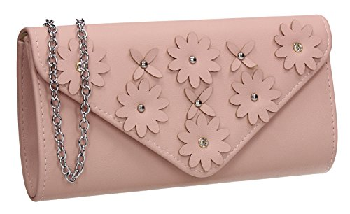 Wedding Floral Envelope Celebrity Ladies Party Clutch Out Prom Swankyswans Evening Bag Night Pink Harley XSEqFU