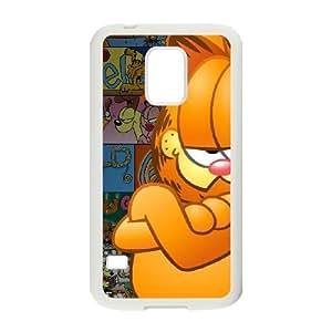Cartoon Garfield For Cell Phone Case Samsung Galaxy S5 Mini White Case Cover W13W7035024