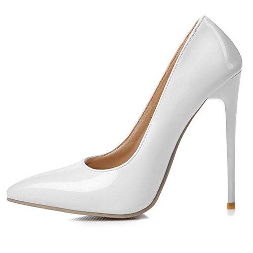 Col Tacco 12cm heel Formale Zanpa Donna Scarpe 9 Colors White Iq4xtw
