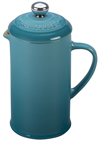 Le Creuset of America PG8200-0517 Stoneware Petite French Press, 12 oz, Caribbean, ()