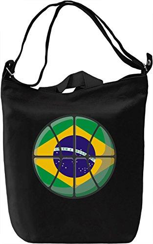 Brazil Basketball Borsa Giornaliera Canvas Canvas Day Bag| 100% Premium Cotton Canvas| DTG Printing|