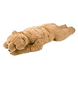 Super-Soft Big Bear Hug Brown Bear Body Pillow with Realistic Accents Bedtime Cuddly Plush Toy Animal 48 L