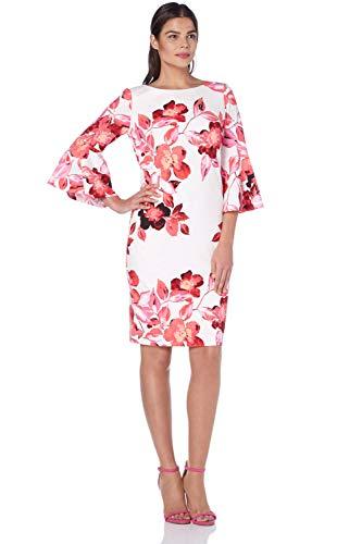Pagodes Manches Roman 48 Rose Originals GenouxTailles Robe Motif Longueur 38 Floral LUzpMqSGV