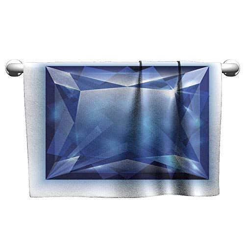 Quick-Dry Towels Princess Cut Sapphire Illustration Absorbent Towel Terry Towels 27 x 55 Inch
