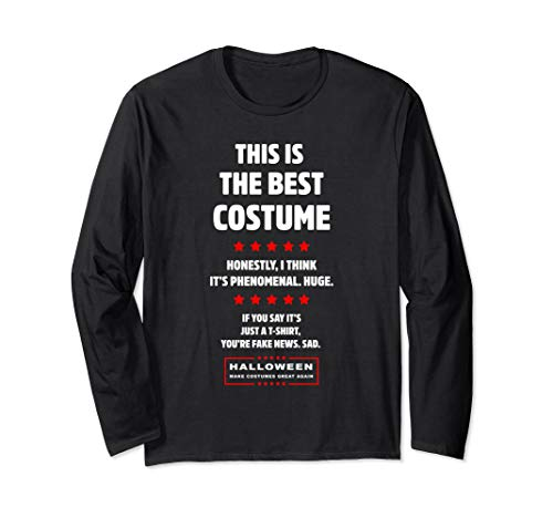 Easy Political Halloween Costumes (Donald Trump Easy DIY Halloween Costume Funny Political Gift Long Sleeve)