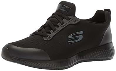Skechers Womens Squad-sr Black Size: 5